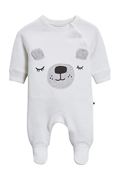 next Bebé-Niños Pijama Tipo Pelele con Diseño De Oso (0-18 Meses) Blanco 12-18 Meses: Amazon.es: Ropa y accesorios