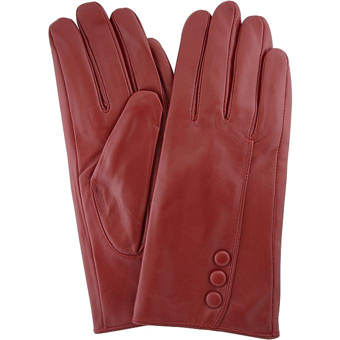 Traje de neopreno para mujer mantequilla suave Premium rojo botón de Classic funda de piel guante