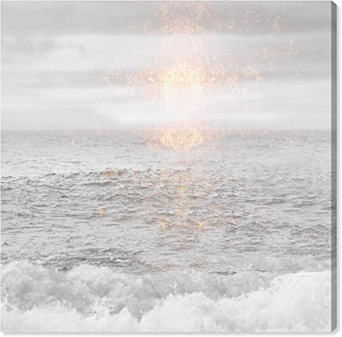 The Oliver Gal Artist Co. Nautical and Coastal Wall Art Canvas Prints 'Grey Sea' Home D cor