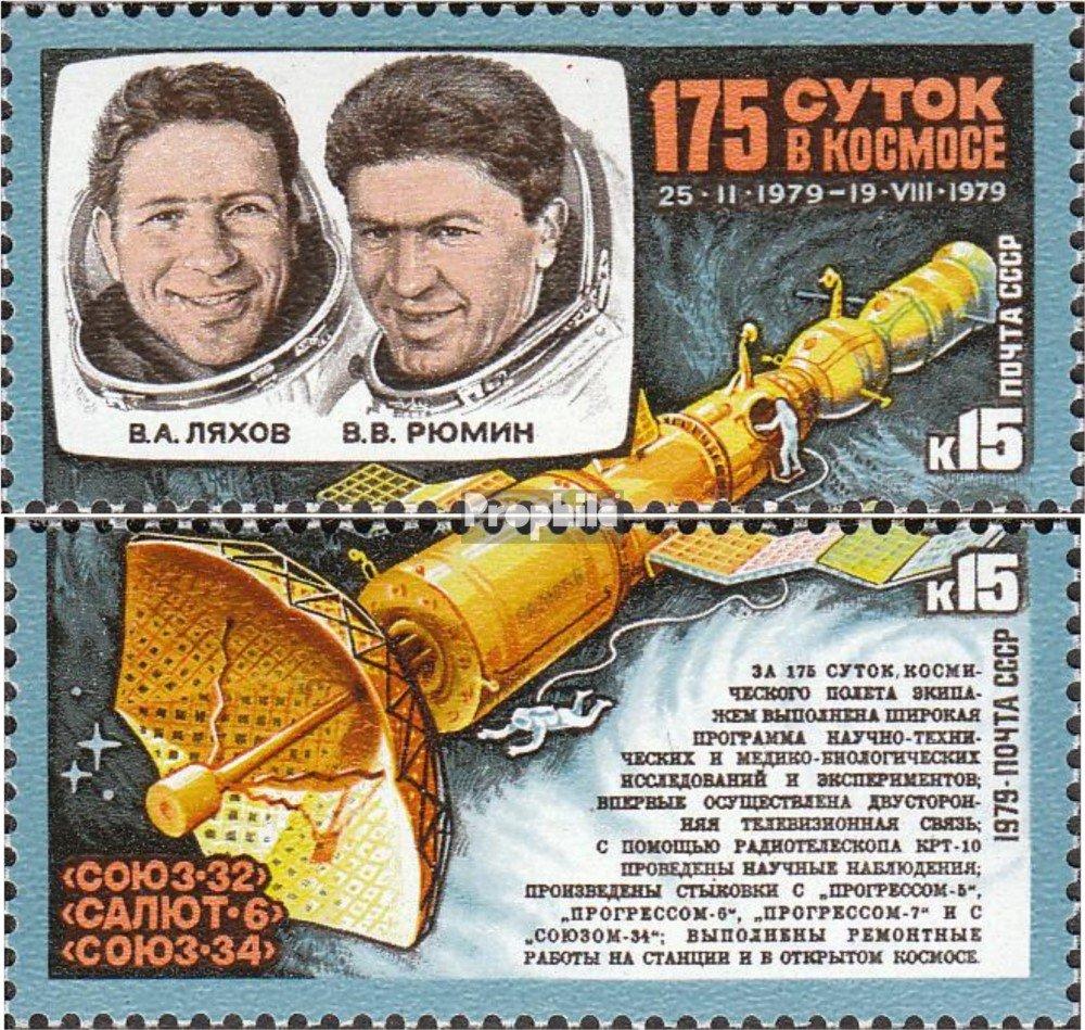 kompl.Ausg. Briefmarken f/ür Sammler Weltraum Rjumin im Weltraum Prophila Collection Sowjetunion 4889-4890 1979 Ljachov