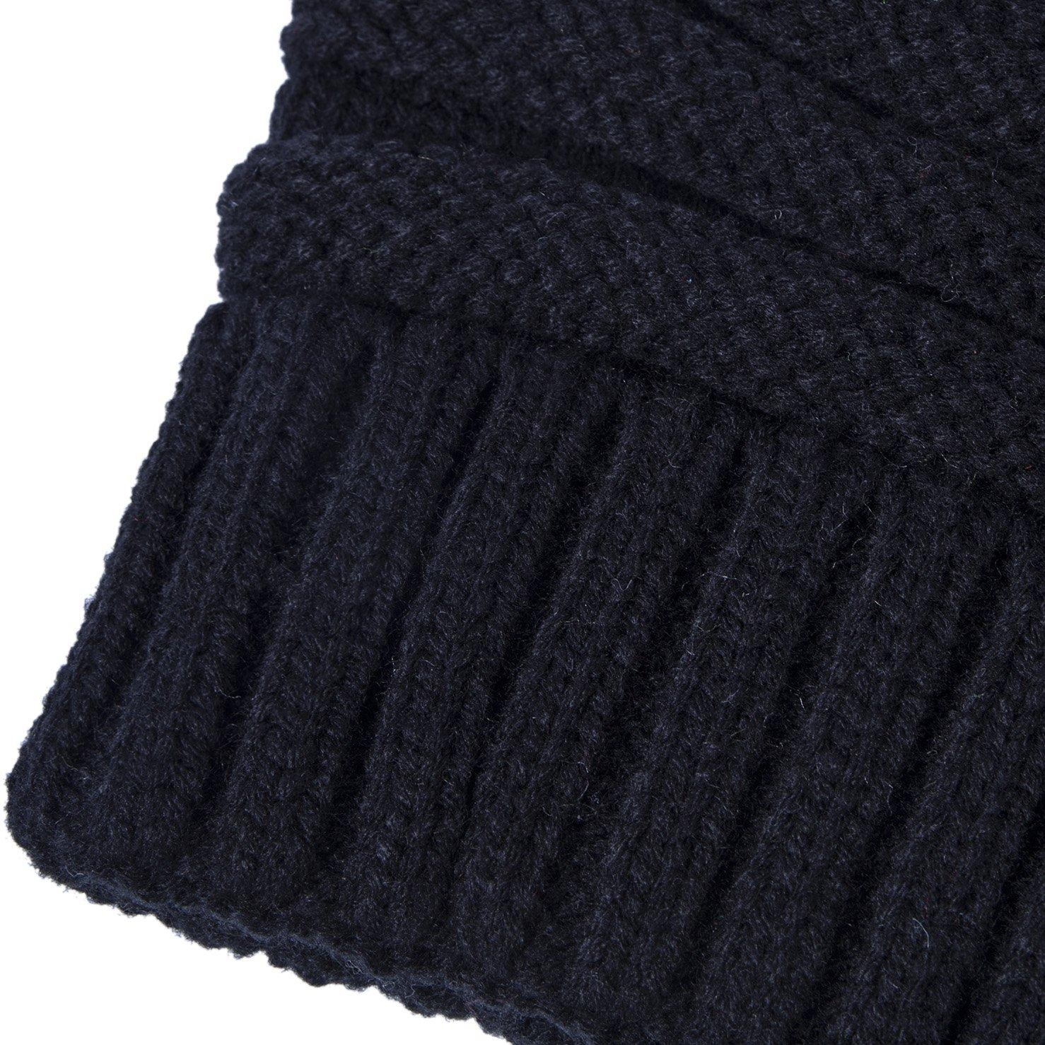Amazon.com: Chalier, gorro tejido para el invierno, con pom ...