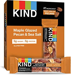 product image for KIND Bars, Maple Glazed Pecan & Sea Salt, Gluten Free, Low Sugar, 1.4oz, 12 Count
