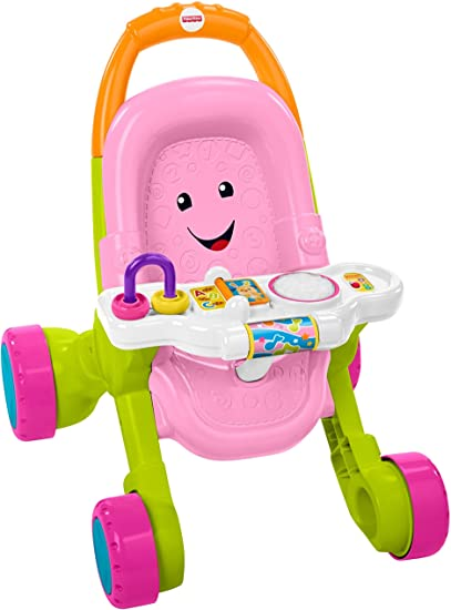 Pink Fisher-Price Stroll /& Learn Walker