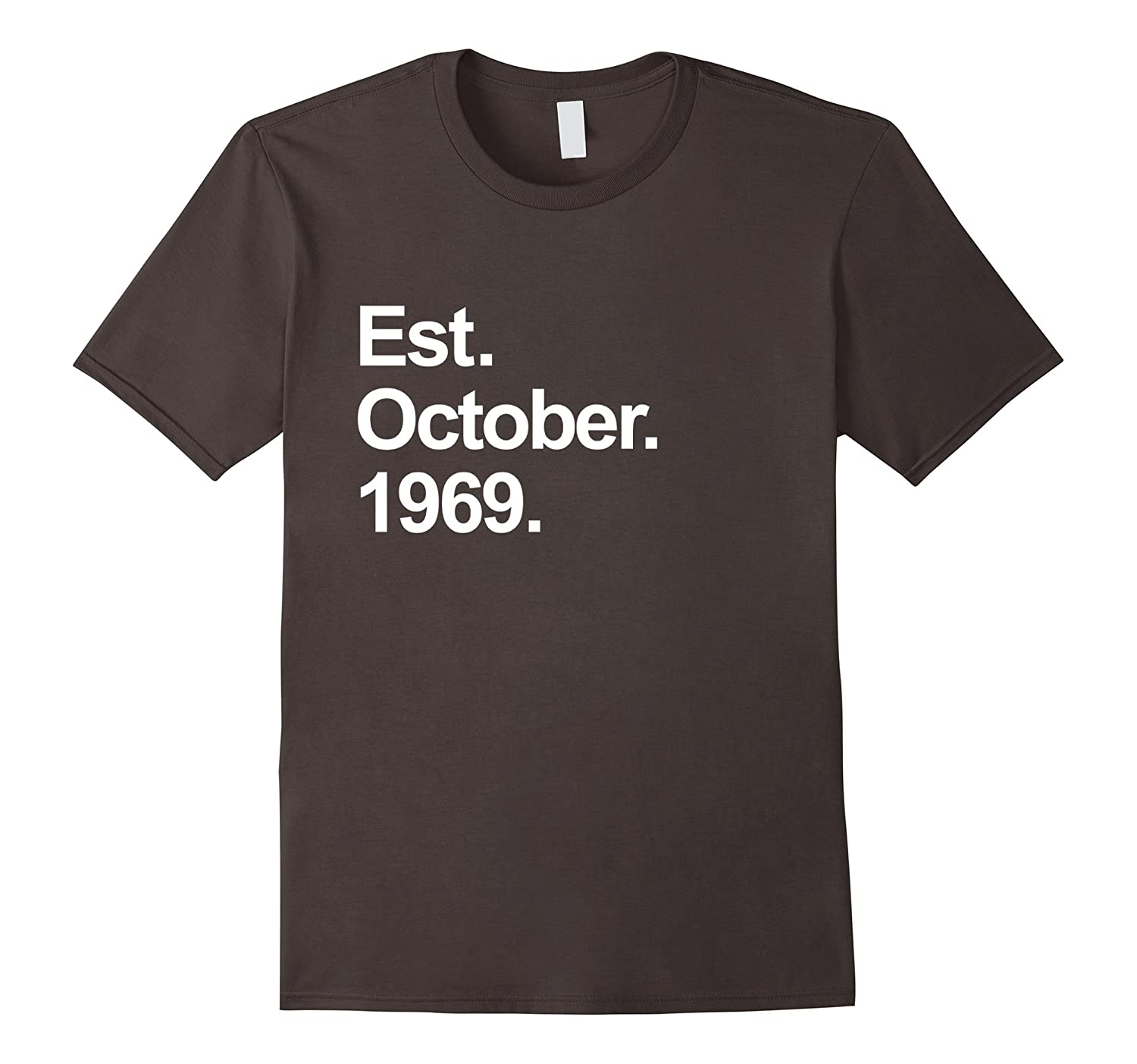 Est October 1969 Shirt Awesome 48th Birthday Gifts TShirt
