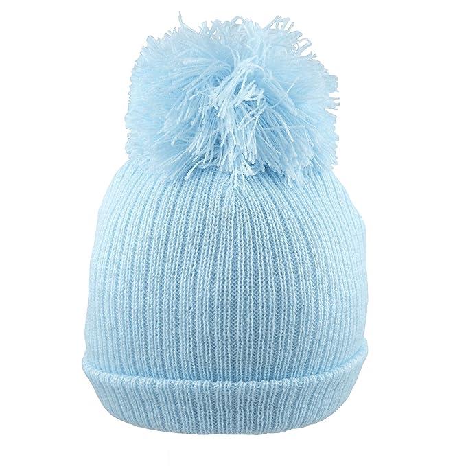 b1826c2a6639 Pesci Baby Boys Girls Pom Pom Hat Plain Knit  Amazon.co.uk  Clothing