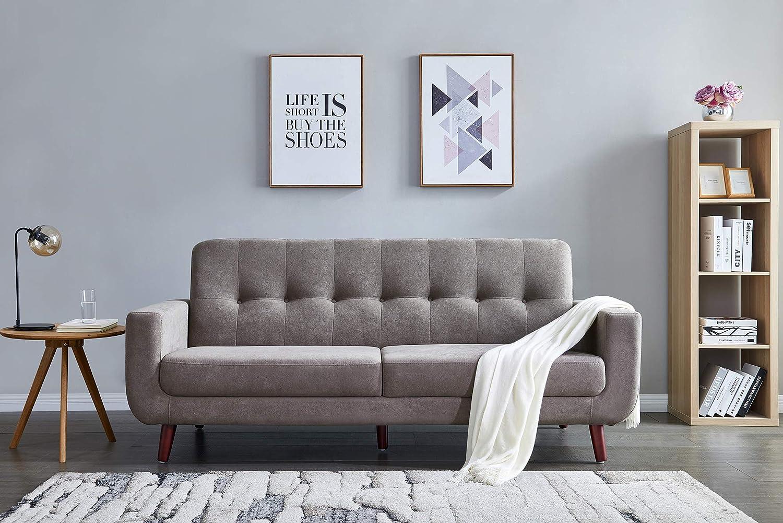 Amazon.com: 80 inch Wide Couch Sofa Brown,JULYFOX Modern ...