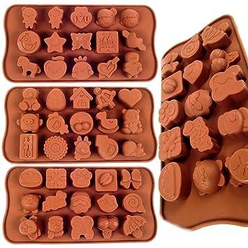 3 x de profundidad de silicona moldes para Chocolate - Juego para hornear moldes para botones al por mayor Reino Unido Vendedor: Amazon.es: Jardín