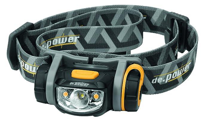 2 opinioni per de.power- Faro LED con luce Spot e grandangolo, compatibile con dimmer, 1x pila