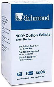 Richmond Dental & Medical 100107 Cotton Pellets, Size 2 (7/32