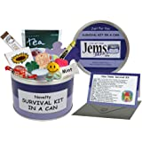 New Home Survival Kit In A Can. Humorous Novelty Fun Gift - Congratulations New Home/House/Flat Present & Card All In One. Customise Your Can Colour. (Purple/Lilac)