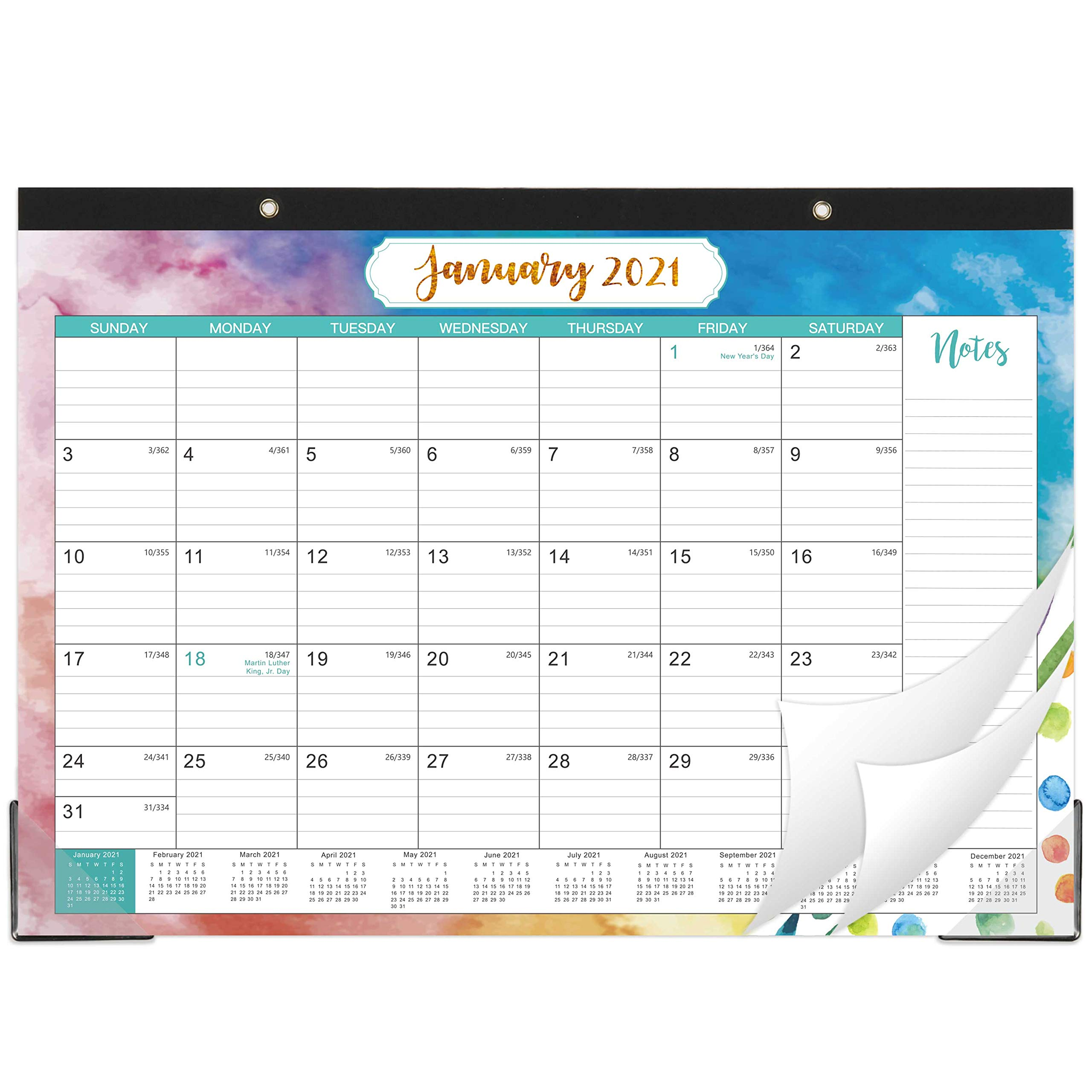 2021-2022 Desk Calendar – Yearly Desk Calendar 2021-2022 Desk/Wall Monthly Calendar Pad
