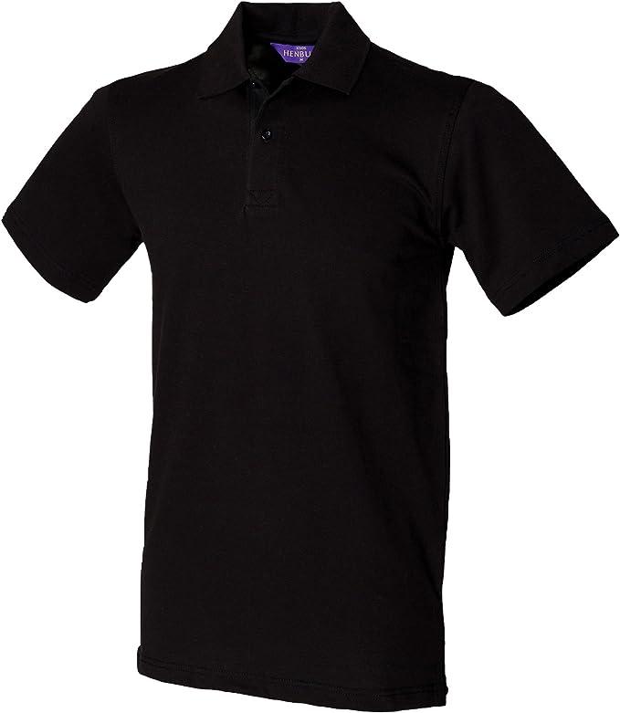 Henbury Mens Slim Fit Stretch Pique Polo Shirt