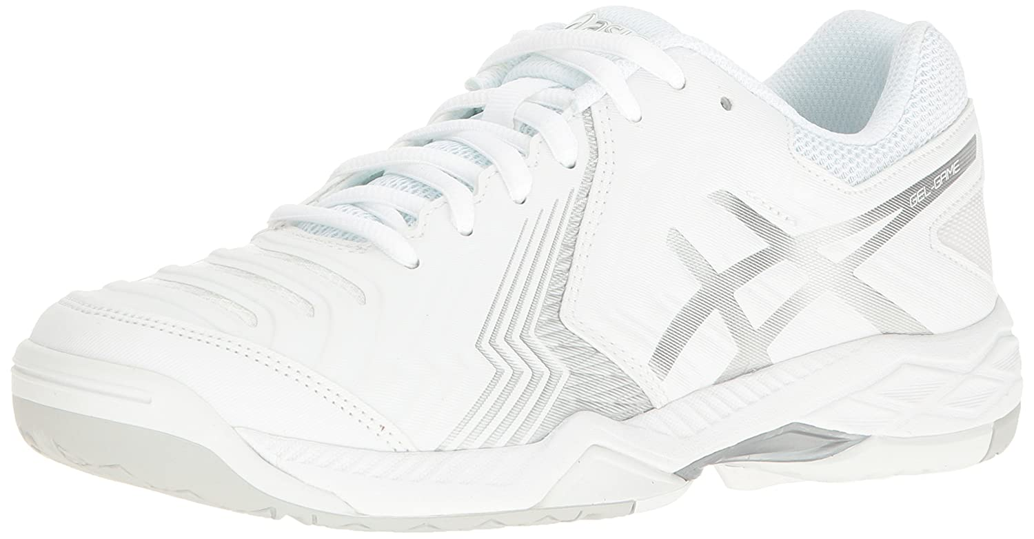 newest a3377 50d71 ASICS Women s Gel-Game 6 Tennis Shoe White Silver 6 B(M) US  Buy Online at  Low Prices in India - Amazon.in
