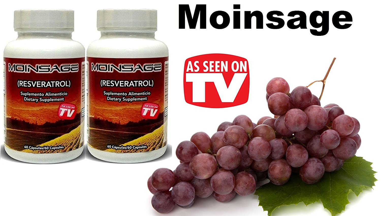 Amazon.com: 100% Original 2 Bottles Moinsage Resveratrol: Health & Personal Care