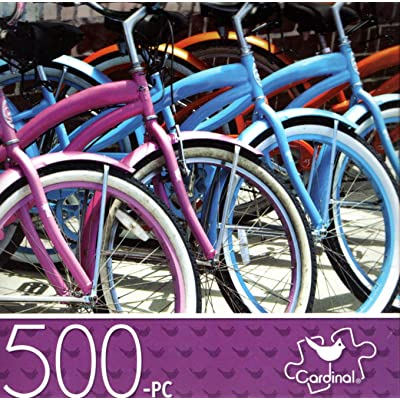 Bicycles Parked - 500 Piece Jigsaw Puzzle: Toys & Games