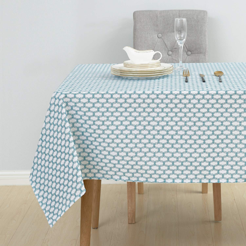 Deconovo Nappe Rectangulaire Oxford Nappe Beige Tissu pour Table ...