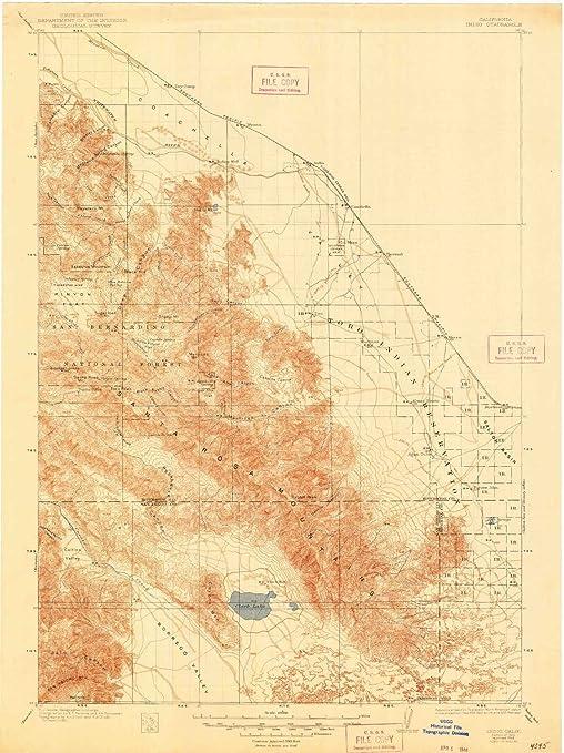 Amazon.com: YellowMaps Indio CA topo map, 1:125000 Scale, 30 ...
