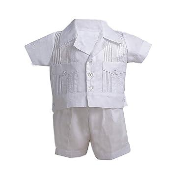 4b408a51c Amazon.com: Lauren Madison Baby boy Christening Baptism Infant Guayabera  Bautizo Set: Infant And Toddler Christening Apparel: Clothing