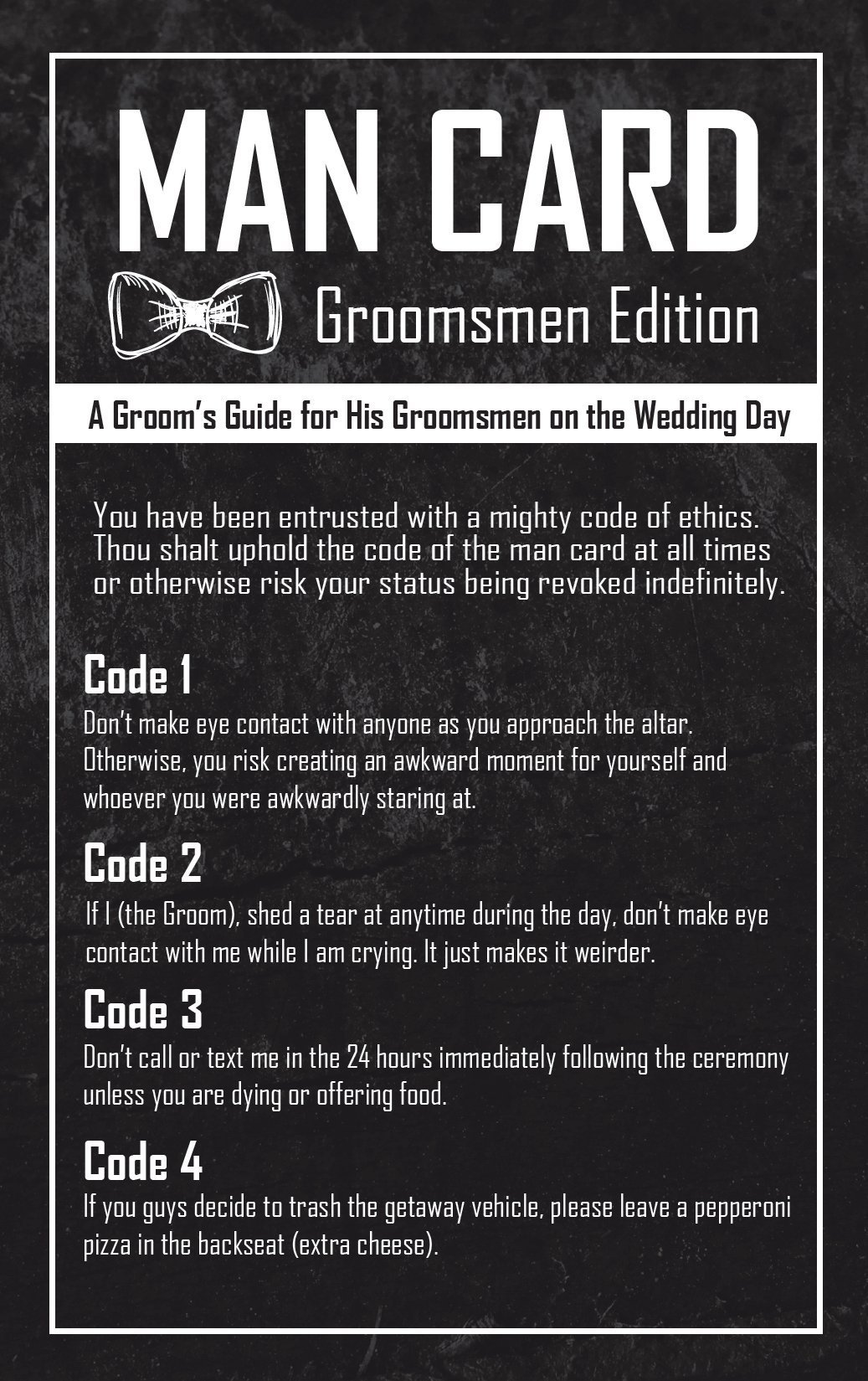 Groomsmen Gifts For Wedding - The Man Card - Groomsmen Edition 6-Pack by Wannabe Genius (Image #1)