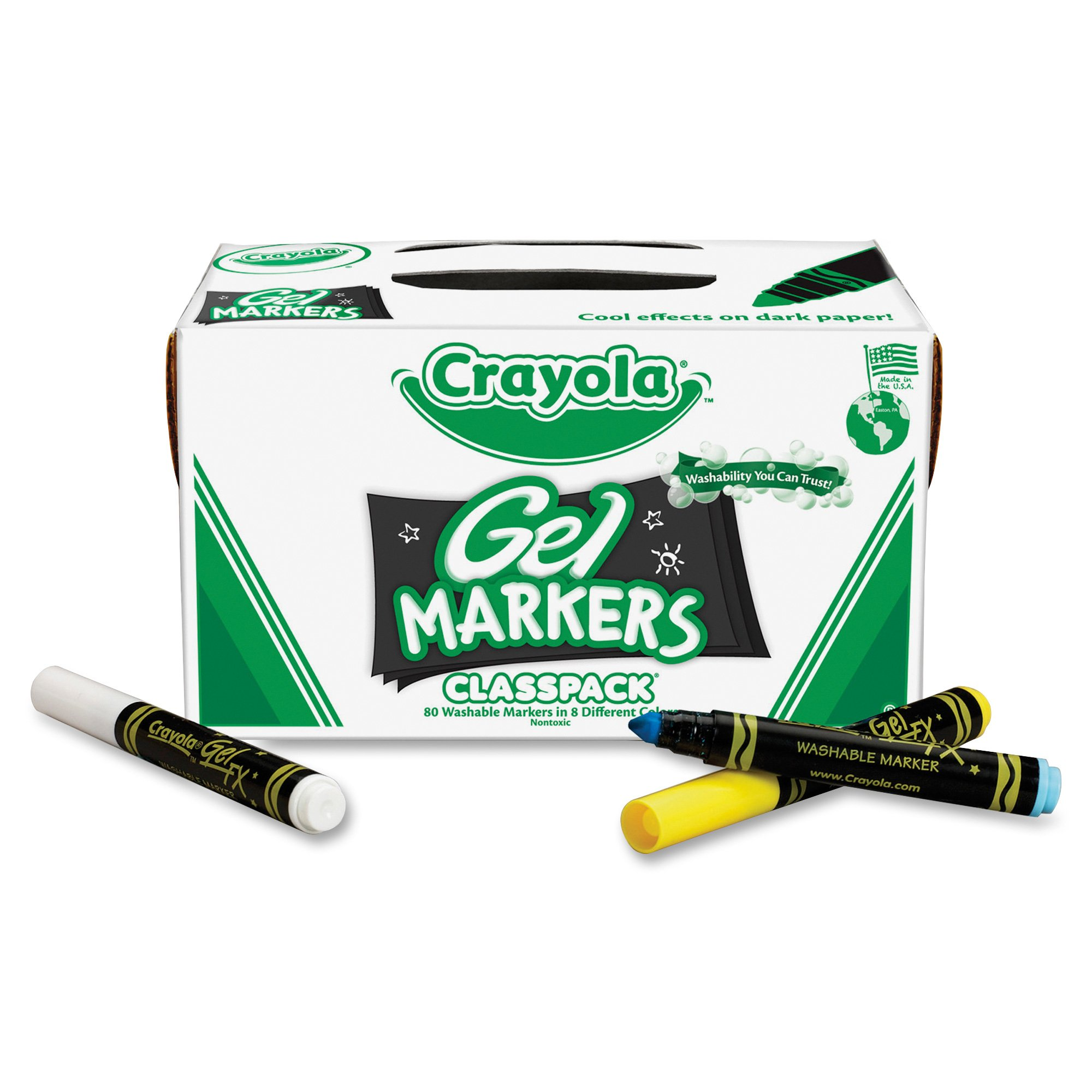 Crayola, Gel FX Washable Markers, 80 ct., 10 Each of 8 Different Colors, Great for Classroom, Educational, All-Purpose Art Tools by Crayola
