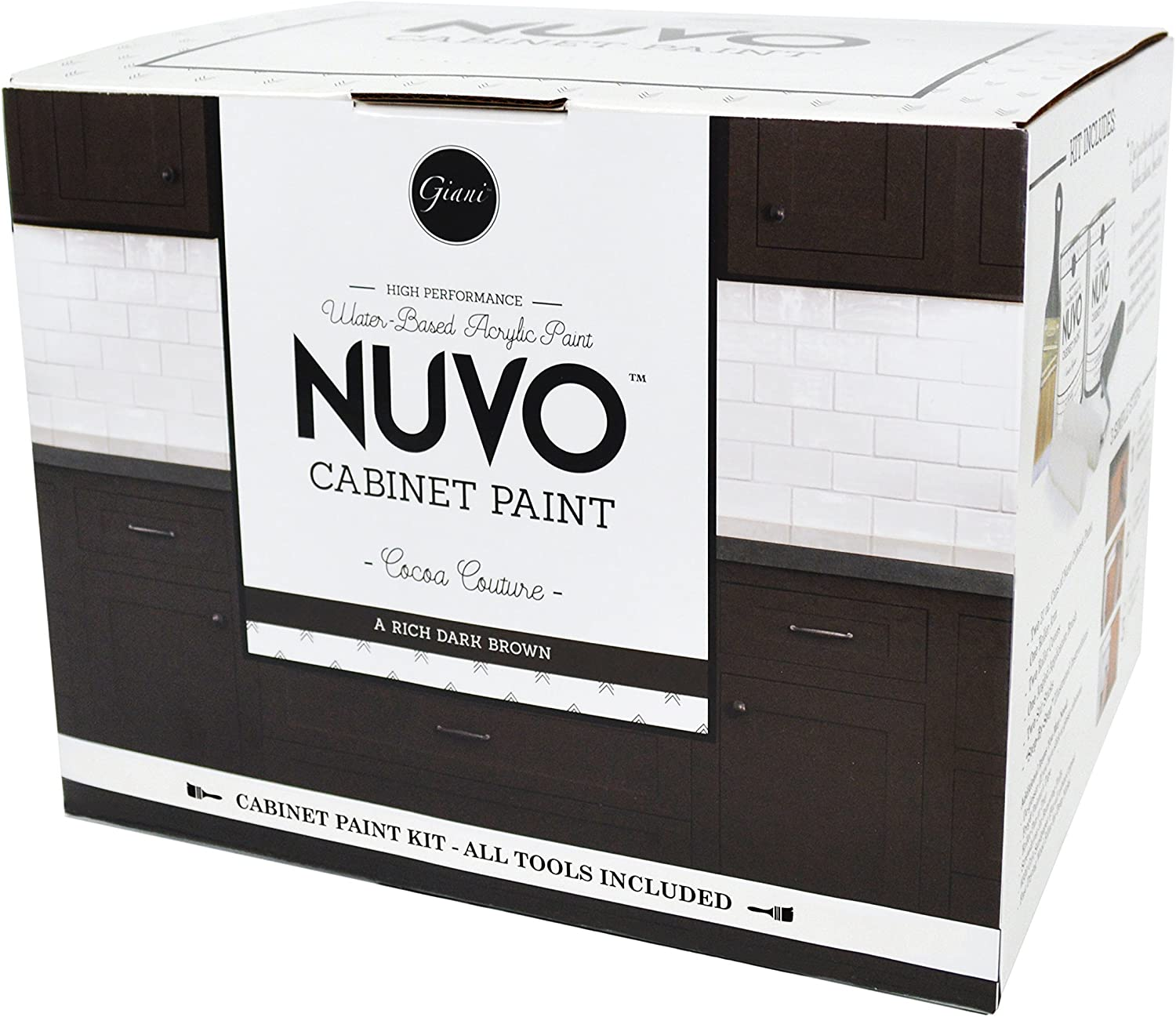 Nuvo Cocoa Couture Cabinet Paint Kit Brown Closet Storage And