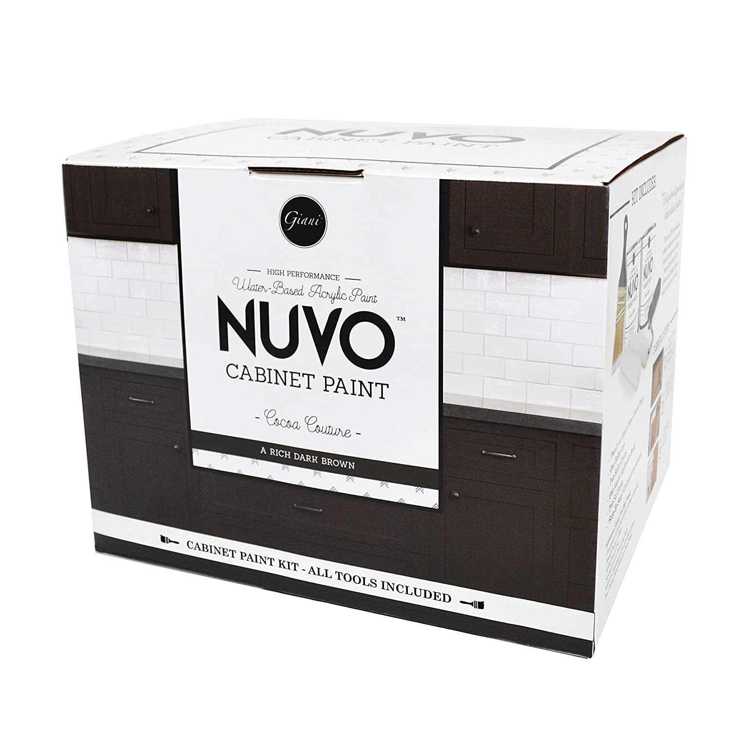 Nuvo Cocoa Couture Cabinet Paint Kit Giani Granite