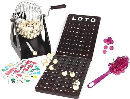 Loteria-Bingo de gran robustez, hecho en madera y metal. 90 bolas ...