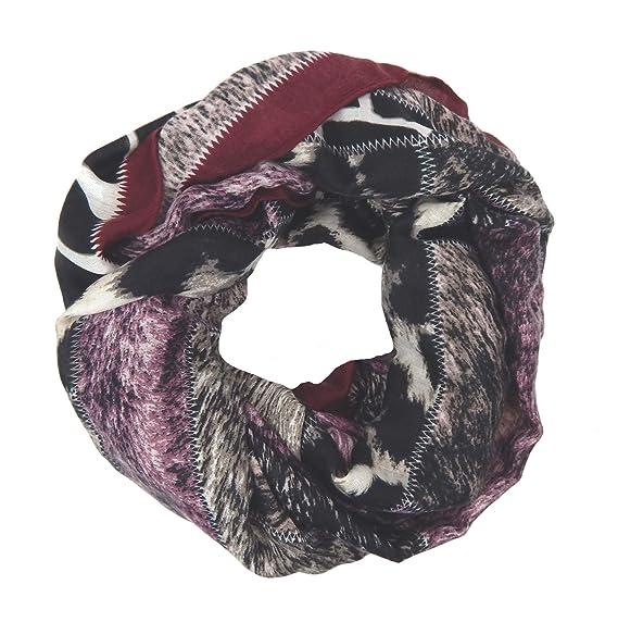 Ella Jonte Foulard Écharpe snood loop femme élégant et tendance de la  dernière collection violet noir 834a49095c2