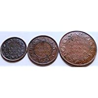 British India ~ 1939 ~ George VI ~ 3 Different Original Copper / Bronze Coins for Collection