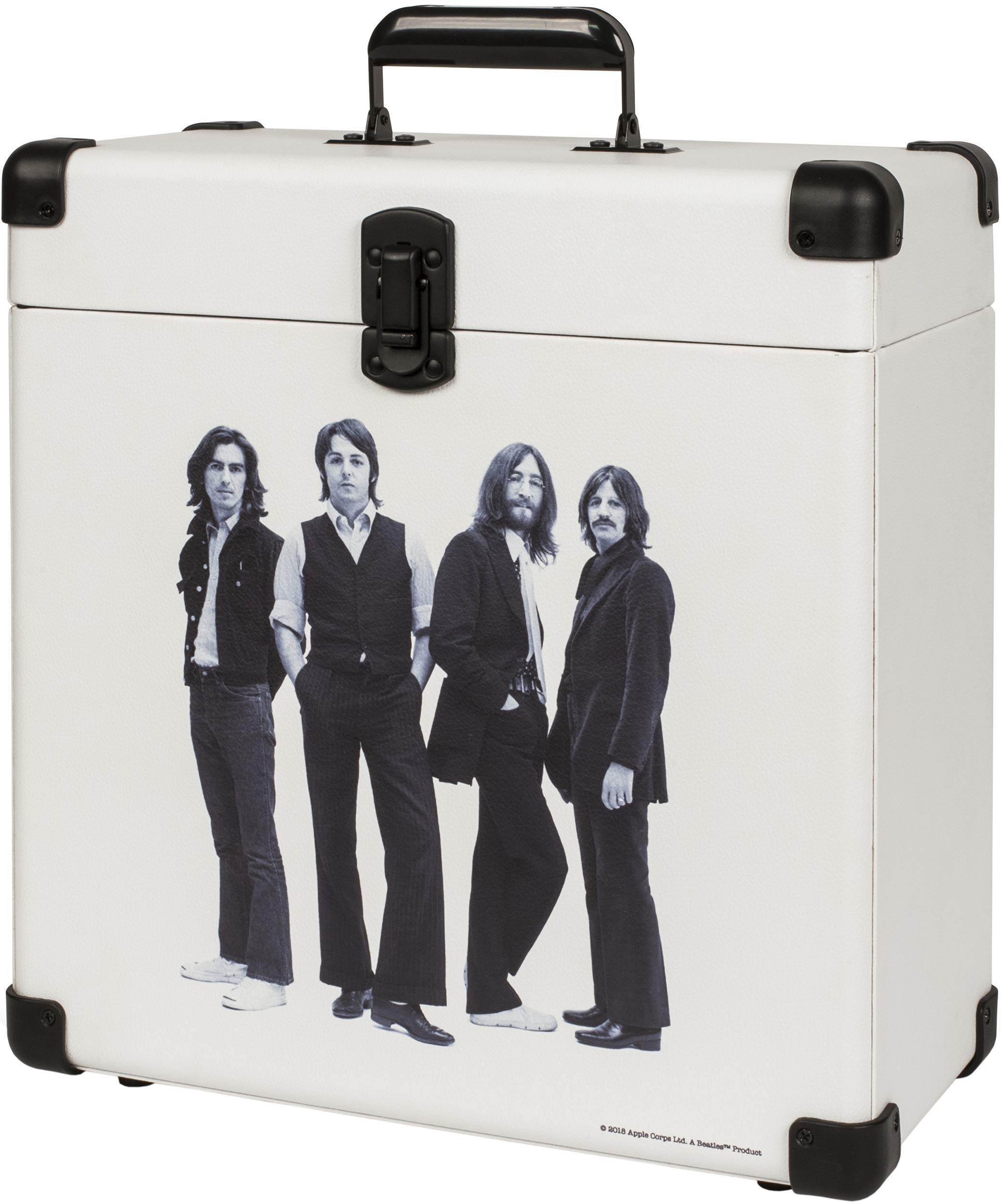 Crosley CR401-BE Record Carrier Case for 30+ Albums, The Beatles
