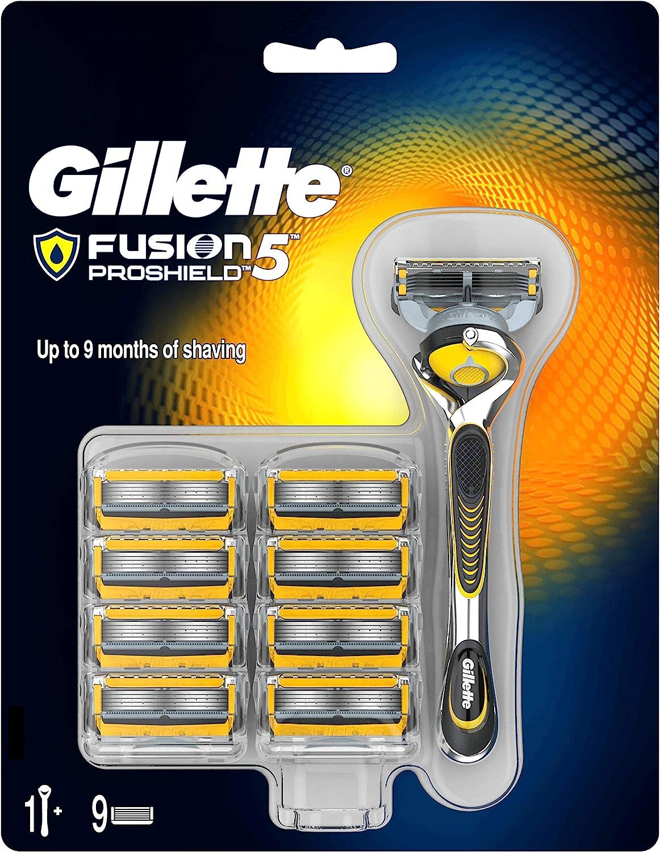 Gillette Fusion ProShield Maquinilla de afeitar - 9 Recambios: Amazon.es: Salud y cuidado personal