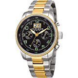 Akribos XXIV Explorer Mens Casual Watch AK862 - Sunray Dial - Japanese Quartz - Stainless Steel Strap