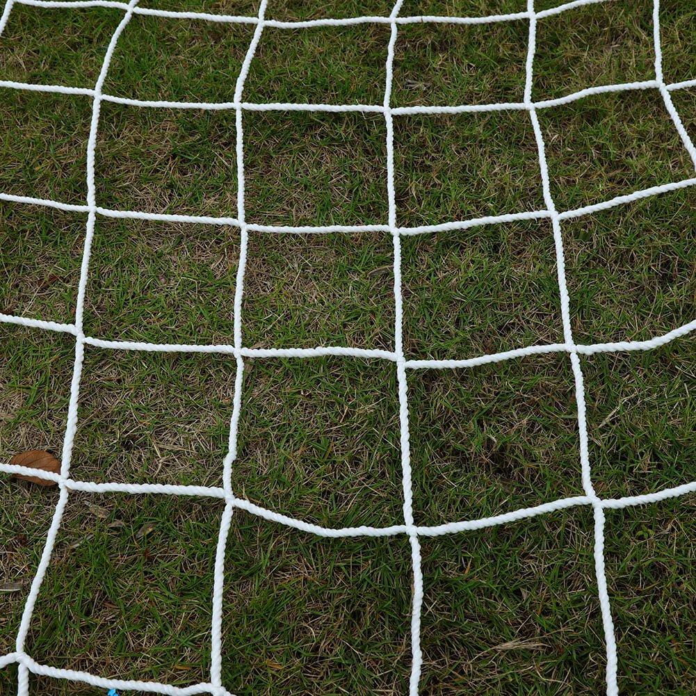 Fu/ßball Tornetz Ersatznetz Fussballtor 12 x 8 Fu/ßballnetz Fu/ßball-Tor-Netz Polypropylen Faser Sportspiel Trainings-Werkzeuge Wei/ß