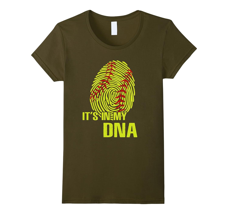 It Is In My DNA Fingerprint – Softball Funny T-Shirt
