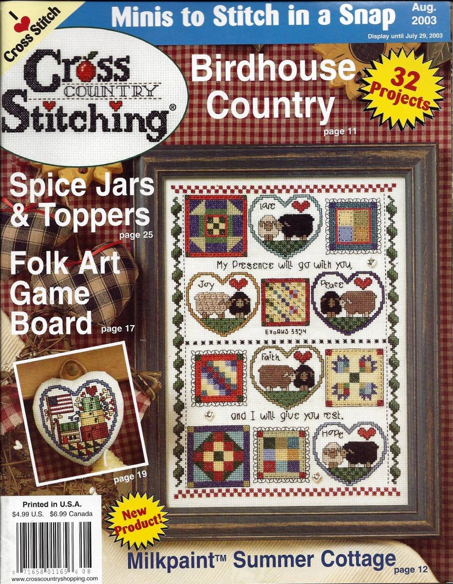 Cross Country Stitching Magazine August 2003 - Volume 15