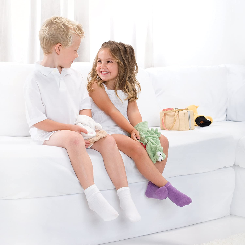 White, Large SmartKnitKIDS Seamless Sensitivity Socks