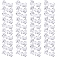 40 Pack Transparent Cable Clips - Viaky Strong 3M Self Adhesive Wire Holder Organizer Durable Cord Management System for Organizing Cables Home and Office