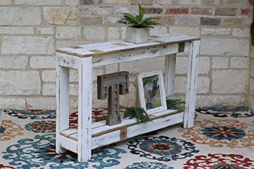 Peachy Amazon Com White Farmhouse Console Table 46X10 Handmade Beatyapartments Chair Design Images Beatyapartmentscom