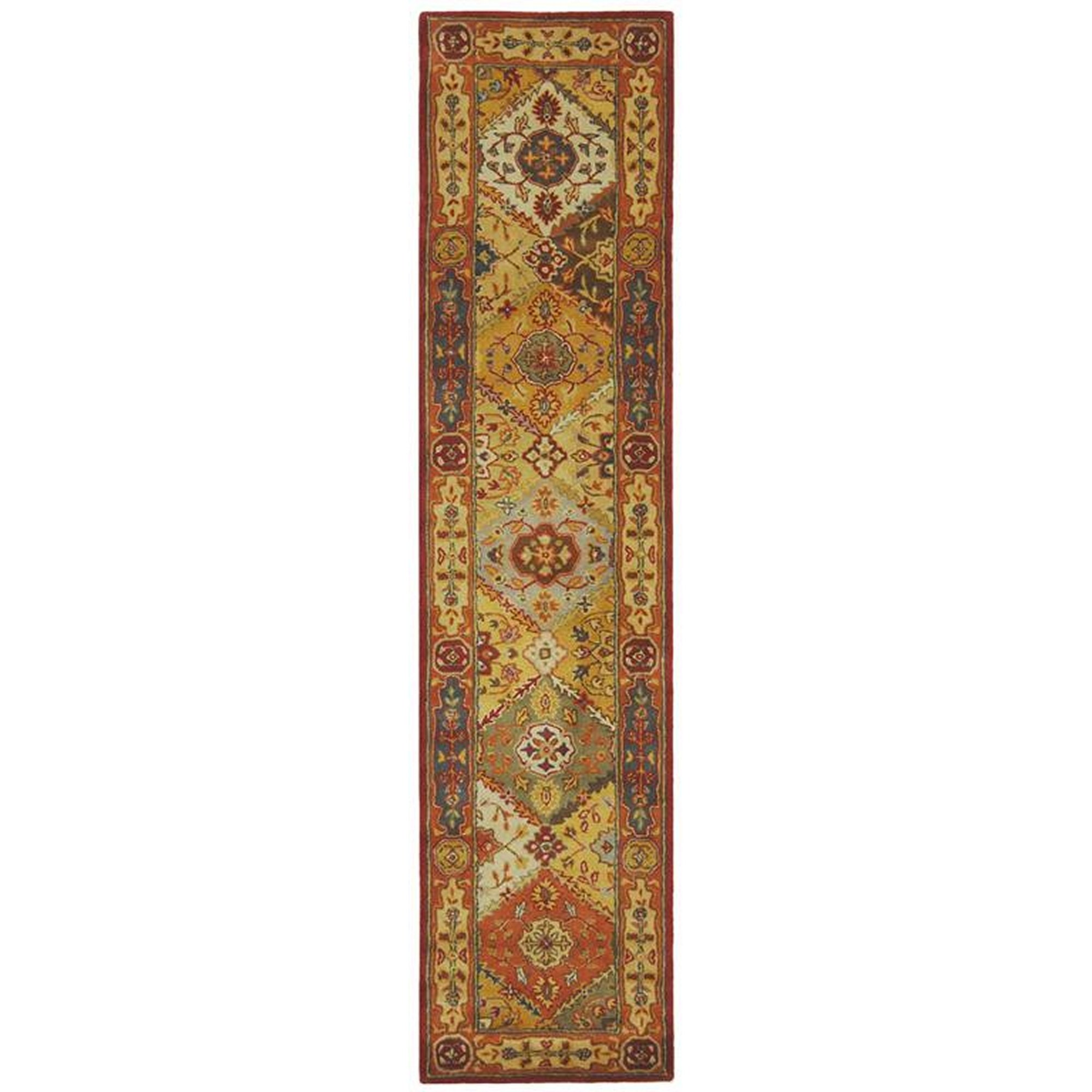 Safavieh Heritage Collection HG512A Handcrafted Traditional Oriental Multicolored Wool Runner (2'3'' x 14')