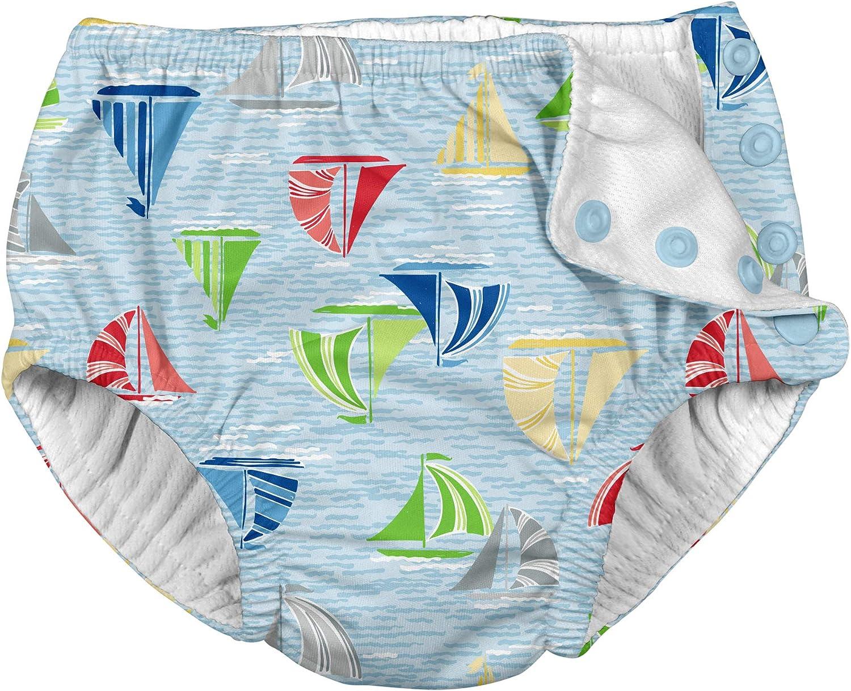 6-12M Blue Sailboat Sea of Swim Nappy i play 12Mo