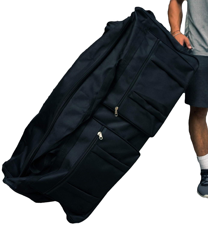 966225f225eb Gothamite 36-inch Rolling Duffle Bag with Wheels, Luggage Bag, Hockey Bag,  XL Duffle Bag With Rollers, Heavy Duty Oversized Bag (Black)