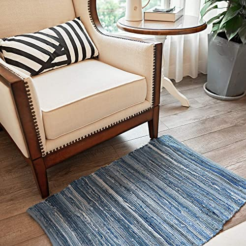 MOTINI Denim Cotton Area Rug 2 x 3
