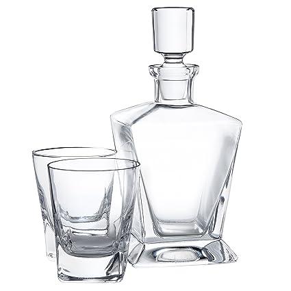 Jarra de whisky de diseño elegante con 2 vasos para el whisky – Jarra en forma