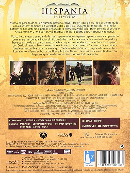Hispania: La Leyenda - Temporada 1-3 La Serie Completa DVD ...