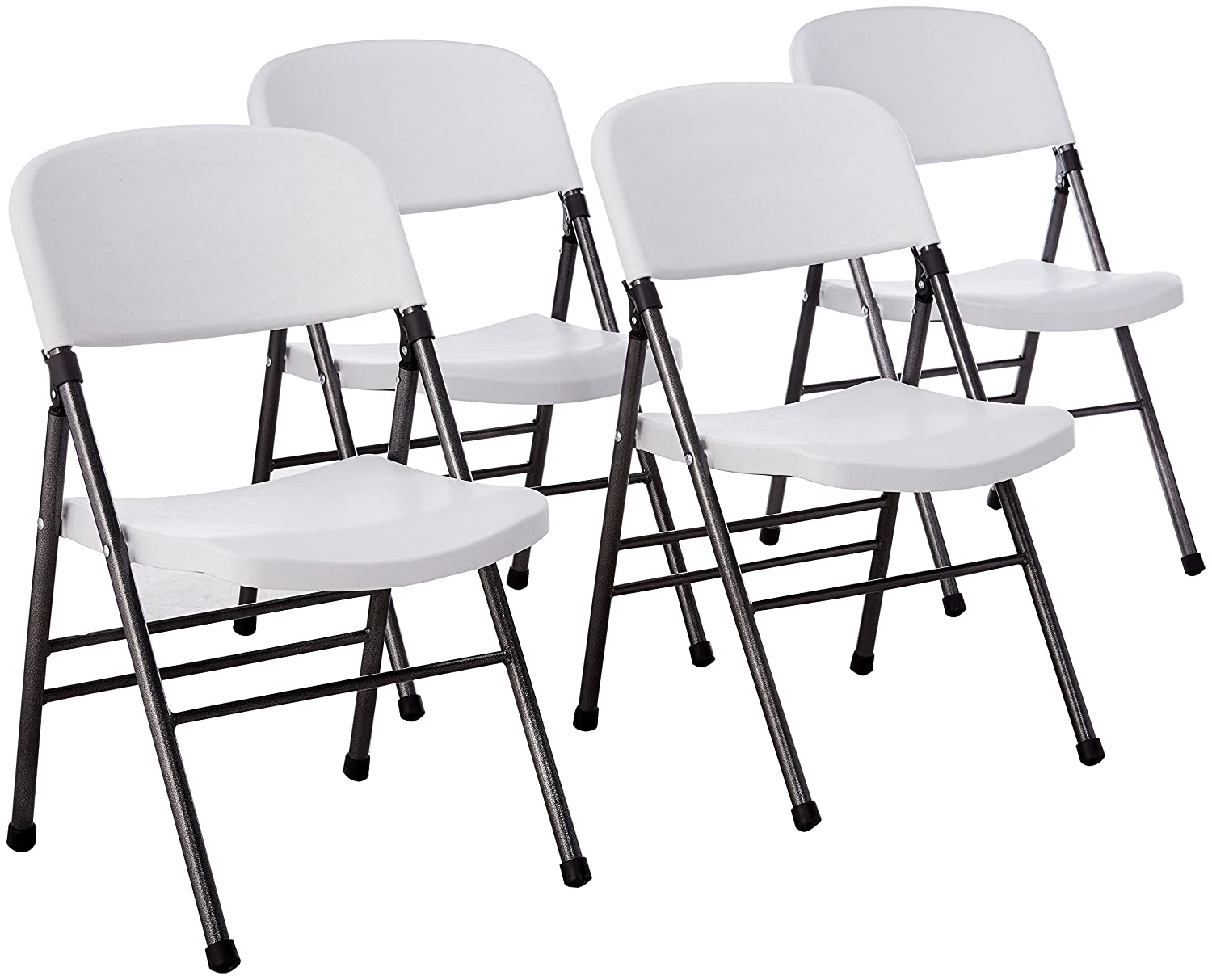 Cosco Resin 4-Pack Folding Chair with Molded Seat and Back