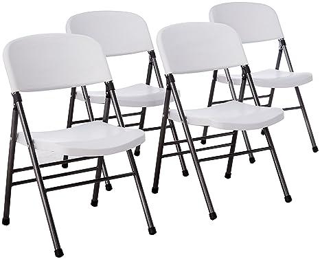 Cosco Resina 4-Pack silla plegable con asiento moldeado y ...