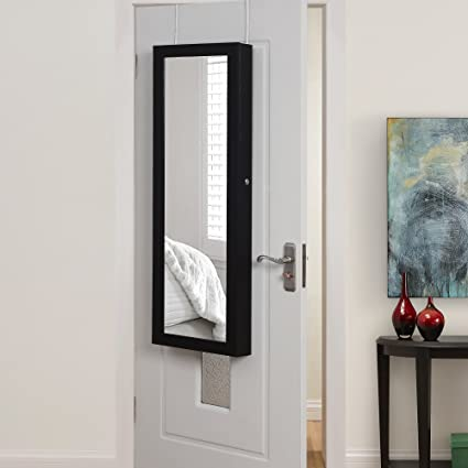 Inspired Home Julie Full Length Over The Door/Wall Mounted Jewelry Armoire  Mirror