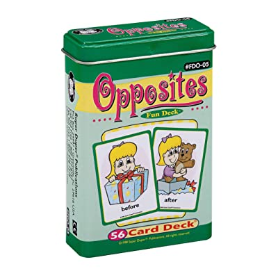 Opposites Fun Deck Cards - Super Duper Educational Learning Toy for Kids: Toys & Games