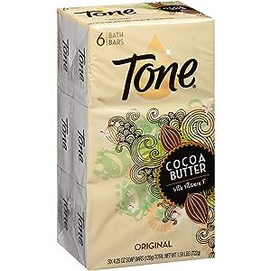 Tone Bath Bars with Cocoa Butter, Original Scent, 6 Bars