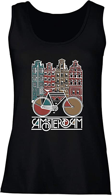 lepni.me Camisetas sin Mangas para Mujer Bicicleta Vintage de la ...